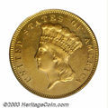 Three Dollar Gold Pieces: , 1881 $3 MS63 PCGS. Only 500 business strikes were ...