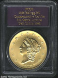 1855 $50 Kellogg & Co. Fifty Dollar Restrike Gem Uncirculated PCGS. Struck on August 26, 2001, with an Uncircula...