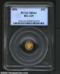 California Fractional Gold: , 1856 25C Liberty Round 25 Cents, BG-229, R.5, MS63 PCGS. ...