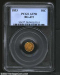 California Fractional Gold: , 1853 50C Liberty Round 50 Cents, BG-421, R.5, AU58 PCGS. ...