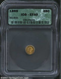 California Fractional Gold: , 1869 25C Liberty Round 25 Cents, BG-830, R.7, XF40 ICG. A ...