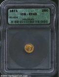 California Fractional Gold: , 1871 25C Liberty Round 25 Cents, BG-839, R.4, XF45 ICG. ...