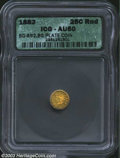 California Fractional Gold: , 1882 25C Indian Round 25 Cents, BG-892, R.7, AU50 ICG. The ...