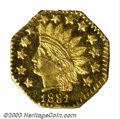 California Fractional Gold: , 1881 50C Indian Octagonal 50 Cents, BG-956, R.7, MS61 ...