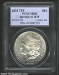 1878 7TF $1 Reverse of 1878 MS65 PCGS. A lovely example of this first year issue for the Morgan Dollar series, well stru...