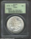 1878 7/8TF $1 Strong MS64 PCGS. Portions of five feathers peer beneath the prominent seven tail feathers. A well struck...