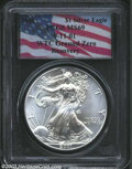 Modern Bullion Coins: , 2001 $1 Silver Eagle MS69 PCGS. WTC Ground Zero Recovery.