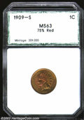 Additional Certified Coins: , 1909-S 1C Indian Cent MS63 75% Red PCI (MS63 Red and Brown, ...