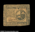 Colonial Notes:Continental Congress Issues, Continental Currency July 22, 1776 $2 About Very Fine. ...
