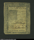 Colonial Notes:Delaware, January 1, 1776, 18d, Delaware, DE-74, VF. This note is a ...