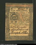 Colonial Notes:Pennsylvania, October 1, 1773, 10s, Pennsylvania, PA-167, Fine. Small stain ...