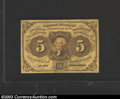 Fractional Currency:First Issue, First Issue 5c, Fr-1230, Gem CU. This is the type variety ...