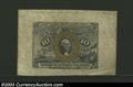 Fractional Currency:Second Issue, Second Issue 10c, Fr-1244SP, AU. This second issue specimen ...
