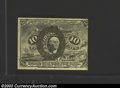 Fractional Currency:Second Issue, Second Issue 10c, Fr-1249, XF. This variety is a rather ...