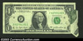 Error Notes:Printed Tears, 1977 $1 Federal Reserve Note, Fr-1909-F, Very Fine. A nice ...