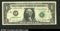 Error Notes:Obstruction Errors, 1981-A $1 Federal Reserve Note, Fr-1912-L, VF. This note ...