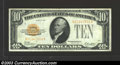 Small Size:Gold Certificates, 1928 $10 Gold Certificate, Fr-2400, VF-XF. This is a bright ...
