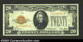 Small Size:Gold Certificates, 1928 $20 Gold Certificate, Fr-2402, VF. This is a crisp and ...
