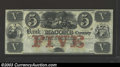 Obsoletes By State:Michigan, 1858 $5 Bank of Macomb County, Mt. Clemens, Michigan, B-24, CU....
