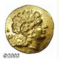 Ancients:Greek, Ancients: Thrace, Tomis, ca. 89-72 B.C., AV stater (8.38 g), Headof Alexander the Great, right, wearing horn of Ammon/Athena,holding...