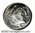 Ancients:Greek, Ancients: Macedon, Kings of. Alexander III, 336-232 B.C., ARtetradrachm (17.20 g), Amphipolis, 315-294 B.C., Head of Herakles,right/...