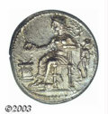 Ancients:Greek, Ancients: Cilicia, Nagidos, 4th c. B.C., AR stater, Aphrodite,seated left, Eros standing left, behind/Dionysios standing leftholding...