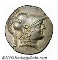 Ancients:Greek, Ancients: Pamphylia, Side, 2nd c. B.C., AR tetradrachm (16.38 g),Helmeted head of Athena right/Nike standing left holding wreath;pom...