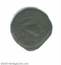 Ancients:Judaea, Ancients: Herod I, the Great, 40-4 BC. Bronze 8-prutah coin struckin 40 BC. Obverse: Tripod, ceremonial bowl above, dated Year 3 and...