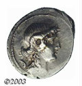 Ancients:Roman, Ancients: M. Plaetorius M.f. Cestianus, 69BC, AR denarius (4.02 g),Draped female bust right, her hair in knot, control-symbolbehind/...