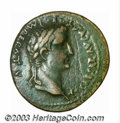Ancients:Roman, Ancients: Tiberius under Augustus, ca. 8-10 A.D., AE as (12.51 g),Lugdunum mint, Laureate head right/Altar of Lugdunum, RIC 238a,Cho...