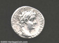 Ancients:Roman, Ancients: Tiberius, 14-37 A.D., AR denarius (3.82 g), Laureate headright/Livia or Pax enthroned right, RIC 25, AXF. Nice metalsurfa...