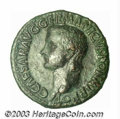 Ancients:Roman, Ancients: Caligula,37-41 AD, AE as (10.97g), Bare head left/Vestaseated left holding scepter, RIC 38, VF. An attractive example ofa...