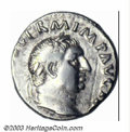 Ancients:Roman, Ancients: Vitellius, 69 A.D., AR denarius (3.03 g), Bare headright/Concordia seated left, RIC 90, VF. Bold, easily recognizablepor...