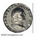 Ancients:Roman, Ancients: Vespasian, 69-79 AD, AR denarius (2.75 g), 69-71 A.D.,Laureate head right/Mourning Judaea, seated right, at base oftrophy,...