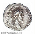 Ancients:Roman, Ancients: Didius Julianus, 193 A.D., AR denarius (3.16 g), Laureatebust right/Julianus, togate, standing left with globe., RIC 3,VF/...