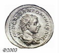 Ancients:Roman, Ancients: Elagabalus, 218-222 A.D., AR antoninianus (5.56 g), 219A.D., Radiate, draped and cuirassed bust right/Roma, seated left,ho...
