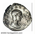 Ancients:Roman, Ancients: Julia Paula, 219-220 A.D., AR denarius (2.92 g), Drapedbust right/Concordia seated left holding patera, cornucopia, RIC211...