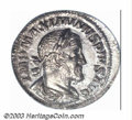 Ancients:Roman, Ancients: Maximinus I, 235-238 A.D., AR denarius (3,12 g.),Laureate, draped and cuirassed bust right./Fides, standing left,holding t...