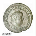 Ancients:Roman, Ancients: Balbinus, 238 A.D., AR antoninianus (3.99 g), Radiate,draped and cuirassed bust right/Clasped hands, RIC 10, XF. Therever...