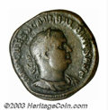 Ancients:Roman, Ancients: Balbinus, 238 A.D., AE sestertius (20.72 g), Laureate,draped and cuirassed bust right/Victory, standing right, holdingwrea...