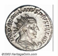 Ancients:Roman, Ancients: Aemilian, 253 A.D., AR antoninianus (4.03 g), Radiate,draped and cuirassed bust right/Mars, advancing left, holdingbranch,...