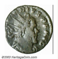 Ancients:Roman, Ancients: Marius, 268 A.D., AE antoninianus (4.01 g), Cologne mint,Radiate, draped and cuirassed bust right/Clasped hands, RIC 5,VF....