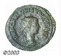 Ancients:Roman, Ancients: Quietus, 260-261 A.D., AE antoninianus (2.53 g), Antiochmint, Radiate, draped and cuirassed bust right/Jupiter seated left...
