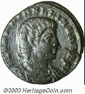 Ancients:Roman, Ancients: Hanniballianus,335-337 A.D., AE 4 (1.30 g),Constantinople mint, Draped, cuirassed bust right/The Euphratesholding scepter,...