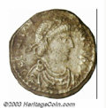 Ancients:Roman, Ancients: Constantine III, 407-411 A.D., AR siliqua (1.80 g), Triermint, Diademed, draped and cuirassed bust right/Roma enthroned,fa...