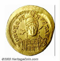 Ancients:Roman, Ancients: Leo I, 457-474 A.D., AV solidus (4.47 g) Constantinoplemint, Facing military bust, 3/4 right/Victory, standing left,holdi...