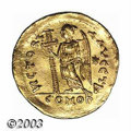 Ancients:Roman, Ancients: Zeno, 474-491 A.D., AV solidus (4.41 g) Constantinoplemint, Facing military bust, 3/4 right/Victory, standing left,holdin...