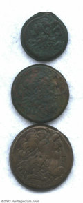 Ancients:Greek, Ancients: Greek Ptolemy Bronze lot as follows: Ptolemy III AE 34,BMC 87, VF; Ptolemy X, AE 29, BMC 29, F/VF; and a Ptolemy IVPhilopa... (Total: 3 coins Item)