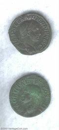 Ancients:Roman, Ancients: Roman Bronze Coins, Agrippa, Died 12 BC, RIC (Gaius) 58, AVF; Severus Alexander, Sestertius, AXF. Two desirable coins for t... (Total: 2 coins Item)