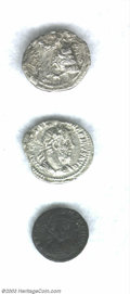 Ancients:Roman, Ancients: Roman Galeria Valeria Coins. A very interesting group of3 Galeria Valeria coins.... (Total: 3 coins Item)